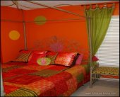 Orange Tween  Room, Arlene Franklin, bedroom decorating ideas for girls, window treatments, bedrooms, bedroom decor ideas, kids rooms, childrens rooms, girls bedroom, decorating kids rooms, girls bedrooms decor, teen girls room