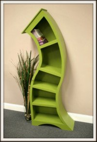 Picture of 6FT green curved shelf