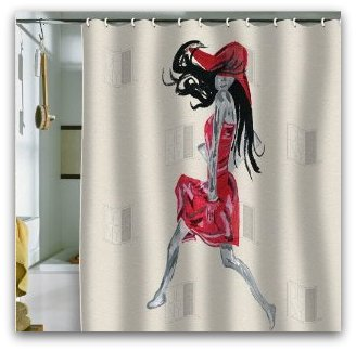 Shower Curtain Red Dress