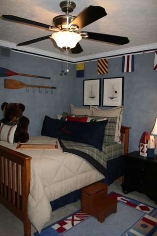 decorating small room, boys room, sailboat theme  by Jodie Murphy