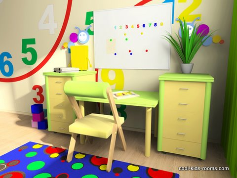 Colorful play room