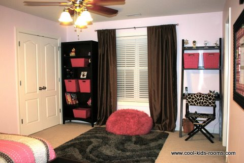 Pink And Brown Teen Girl Bedroom Decorating, Cynthia U0026 Theo McBride, Bedroom  Decorating Ideas