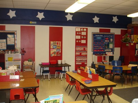 classroom decorating ideas, patriotic theme