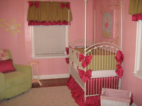 baby room, girls room, nursery, crib