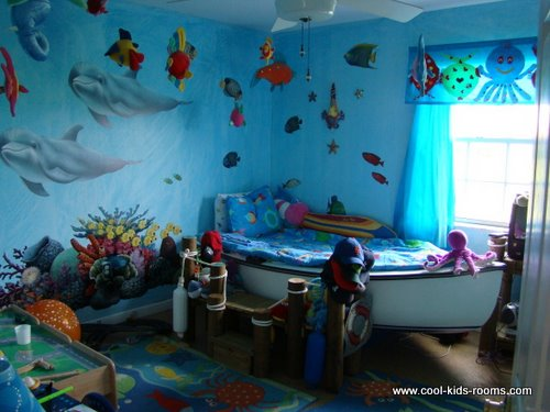 Awe Inspiring Ocean Decor Bedroom Under The Sea Theme Room Ocean Decor Kids Largest Home Design Picture Inspirations Pitcheantrous