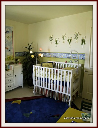 Blue and Olive Baby Boy Nursery