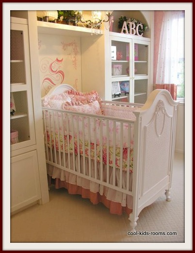 Wite and Pink Baby Girl Nursery