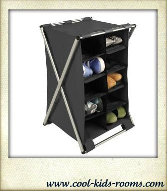 Compartment shoe rack, closet organization systems, closet organizers