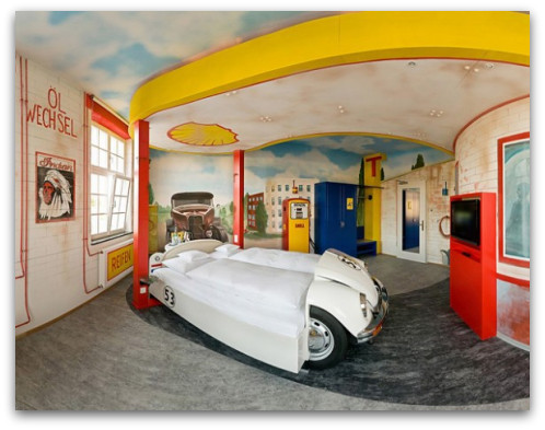 Gas Station Theme Bedroom