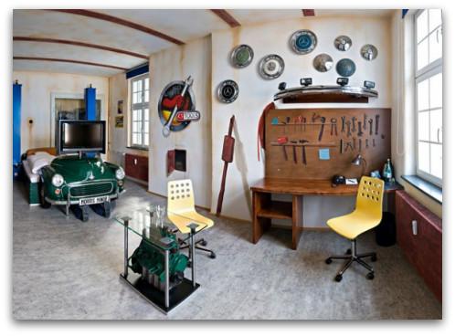 Garage Themed Bedroom