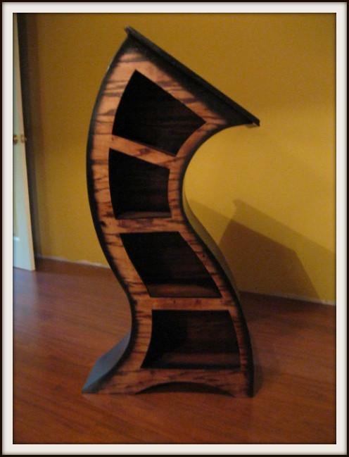 4ft Curved Wood Bookshelf