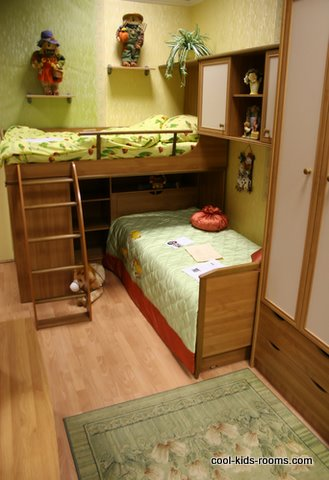 small spaces decor, toddler room, bunk bed