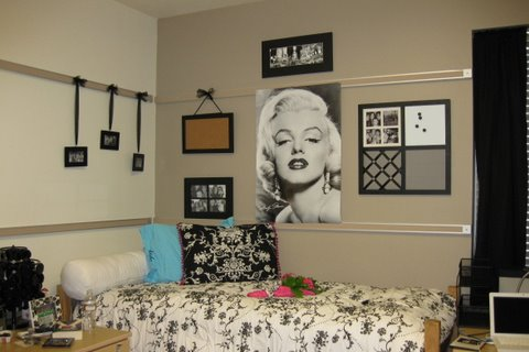 dorm decorating ideas, dorm room bedding, wall decor, dorm