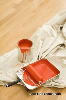 how to paint a room , painted room