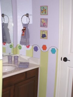 kids bathrooms, adjoining bathroom, groovy girls room, girls bathroom