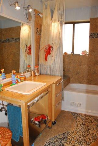 ideas for kids bathrooms, beach bathroom, theme bathroom
