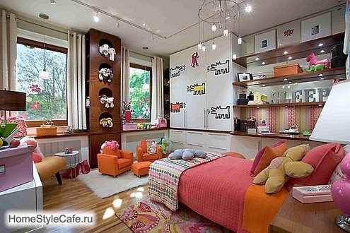 awesom bedroom and playroom for girl