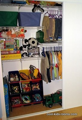 Boy's closet organizing ideas
