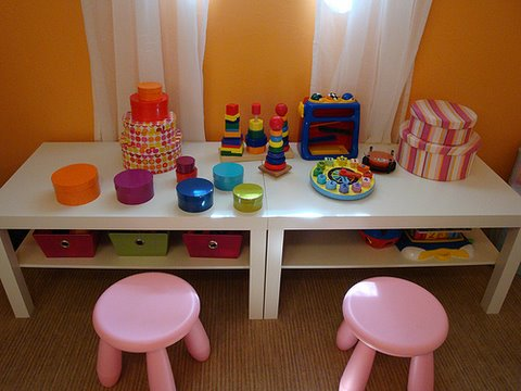 Play area for kids with