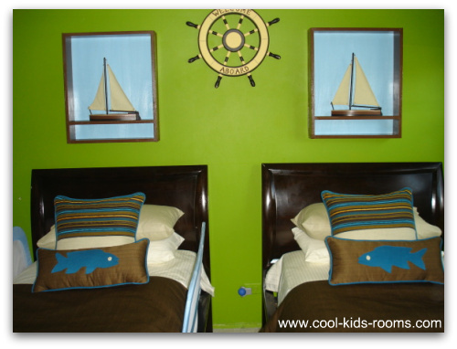 nautical bedroom decor, nautical bedding, nautical wall decor