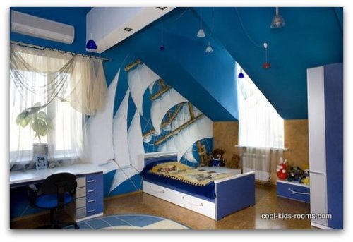 Fine Nautical Bedroom Decor Kids Ship Theme Bedrooms To Design Ideas