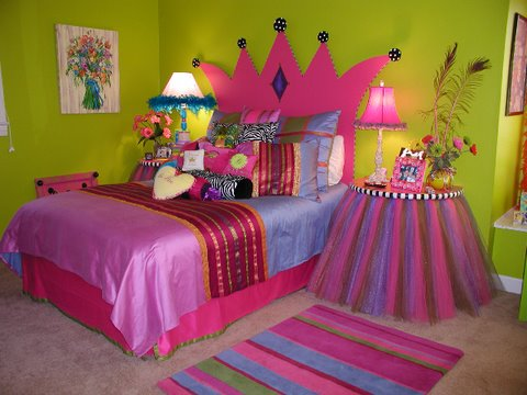 bedroom decorating ideas for girls bedrooms princess theme contemporary chic - Kids Bedroom Decorating Ideas Girls