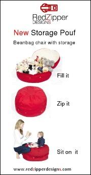Storage pouf