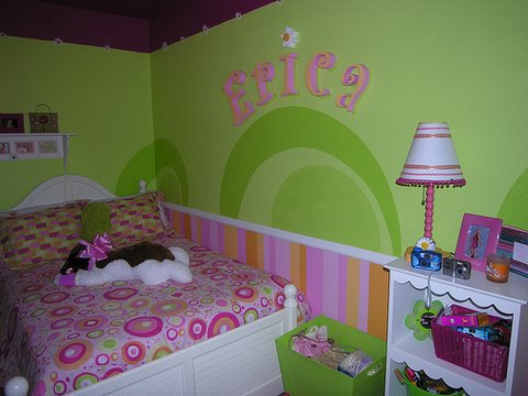 personalize with letter stencils, girls room, room painting ideas,