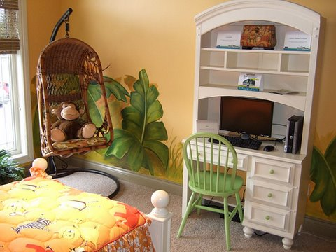 gungle theme room decor, room painting ideas, bedroom painting ideas, colors to paint a room