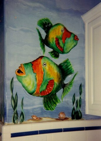 underwater theme, kids rooms decor, room painting ideas, bedroom painting ideas, colors to paint a room