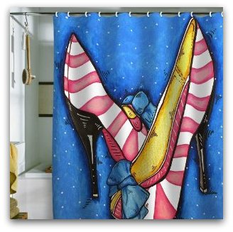 Shower Curtain Diva Slippers