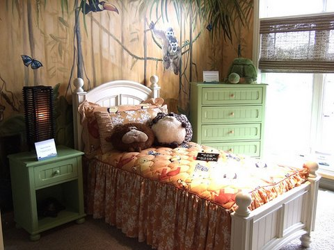 photo wall murals, jungle theme, kids room