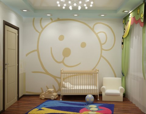 Wall murals for children for Mural kids room