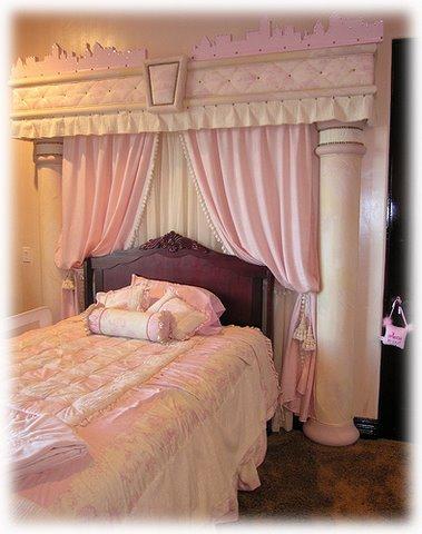 Pink princess themed bedroom