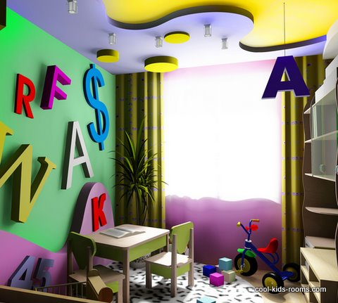 Play room for visually impaired child