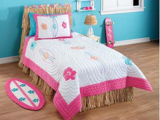 roxy bedding, roxy room, roxy surfboards, roxy stickers,bedroom decorating ideas for girls, girls bedrooms decor,  teen girls room