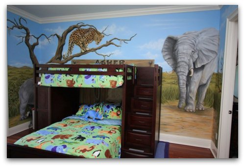 Safari mural by Jason Hulfish
