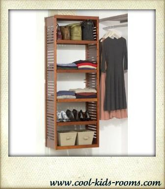 Closet organization system, Deluxe stand alone tower