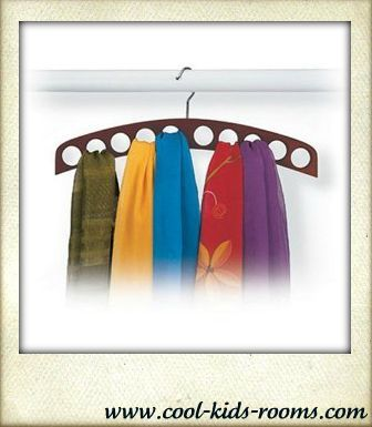 10 Hole Scarf Holder, closet organizer,