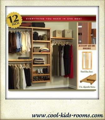 Wood closet organizer system, closet organizer