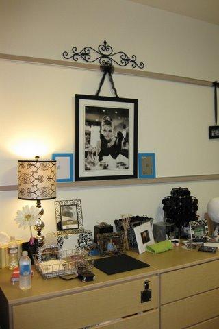 dorm, dresser, wall decor, picture