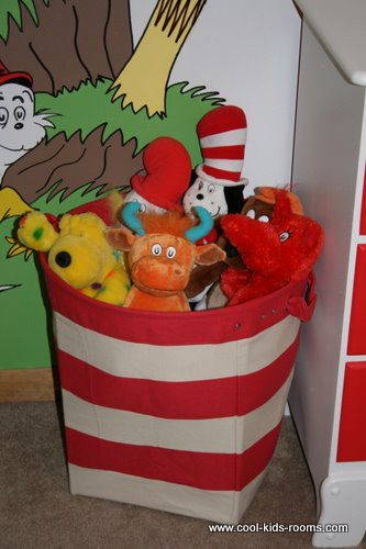 Dr. Seuss wall mural and toys