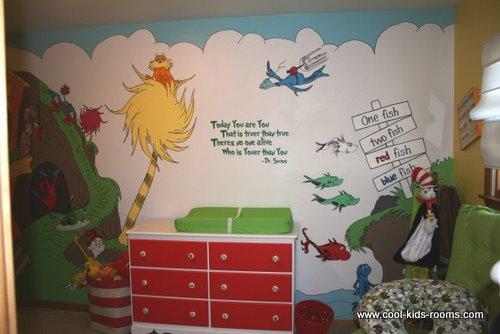 Dr. Seuss wall murals