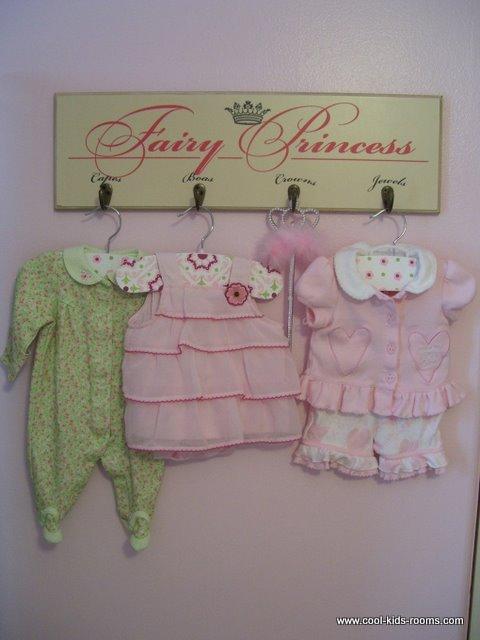 Cute fairy princess hooks for the nursery