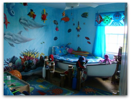 Nautical decorating ideas nautical wall decor for Under the sea bedroom designs