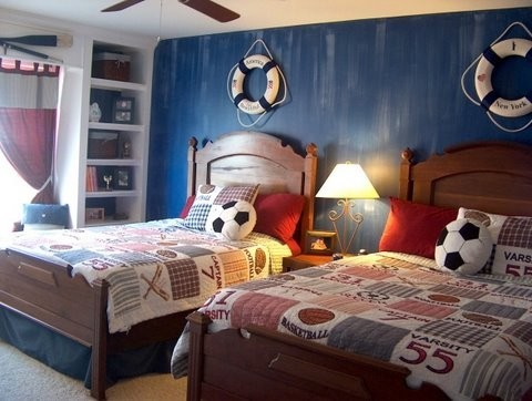 Faux painted kids room