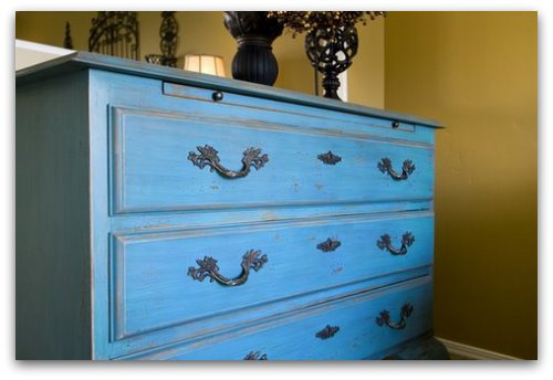 Superior Painted Wood Chest