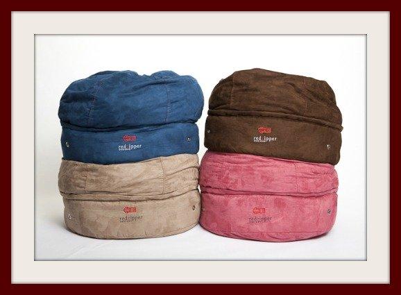 4 colors of storage pouf