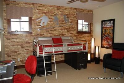 Skate Board Theme room by  Denise Whinery
