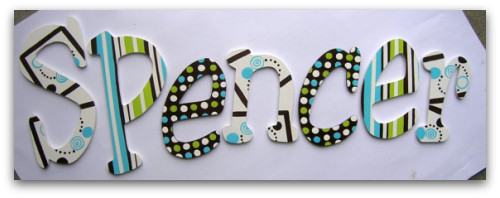 Personalized wooden wall letters
